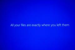 Όλα τα αρχεία σας είναι ακριβώς όπου τα αφήσατε Στοκ εικόνα με δικαίωμα ελεύθερης χρήσης