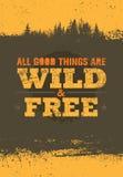 Όλα τα πράσινα πράγματα είναι άγρια και ελεύθερα Δημιουργικό διανυσματικό στοιχείο σχεδίου Eco πράσινο Άγρια και ελεύθερη έννοια Στοκ Εικόνες