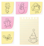 όλες οι εύκολες κλίσεις Χριστουγέννων cmyk doodles δεν ομαδοποίησαν κανένα αντικείμενο recolour ελεύθερη απεικόνιση δικαιώματος