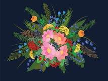 όλες οι οποιεσδήποτε σύνθεσης στοιχείων floral συστάσεις μεγέθους κλίμακας αντικειμένων απεικόνισης μεμονωμένες στο διάνυσμα Στοκ Εικόνα