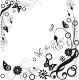 όλες οι οποιεσδήποτε σύνθεσης στοιχείων floral συστάσεις μεγέθους κλίμακας αντικειμένων απεικόνισης μεμονωμένες στο διάνυσμα απεικόνιση αποθεμάτων