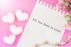 όλη η αγάπη σας χρειάζεται στοκ εικόνα