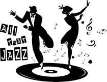 όλη η τζαζ ελεύθερη απεικόνιση δικαιώματος