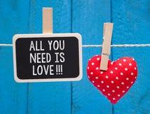 Όλη που χρειάζεστε είναι αγάπη!!! Στοκ Εικόνα