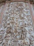 1290 1600 όλοι καλλιτεχνικά ως πηνία καθεδρικών ναών γ που διακοσμούνται απαριθμούν το orvieto μωσαϊκών μερών προσόψεων πέρα από  στοκ εικόνες με δικαίωμα ελεύθερης χρήσης