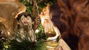 όλοι οι άγγελοι οποιεσδήποτε μεμονωμένες συστάσεις μεγέθους κλίμακας αντικειμένων απεικόνισης στοιχείων Χριστουγέννων στο διάνυσμ Στοκ Φωτογραφία