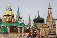 Όλος ο ναός θρησκειών Kazan, Ρωσία Στοκ Εικόνα