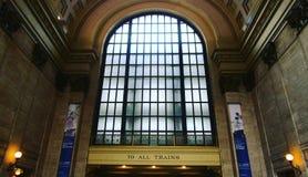 Όλος στο κατάστρωμα ο σταθμός Σικάγο ένωσης Στοκ εικόνες με δικαίωμα ελεύθερης χρήσης