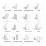 Όλο το βασικό τρισδιάστατο πρότυπο μορφών Στοκ φωτογραφία με δικαίωμα ελεύθερης χρήσης