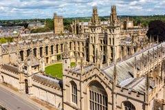 Όλο το κολλέγιο ψυχής, Πανεπιστήμιο της Οξφόρδης στοκ εικόνα με δικαίωμα ελεύθερης χρήσης