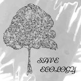 όλο το eco σχεδίου ομαδοποίησε το διάνυσμα στρωμάτων απεικόνισης Διανυσματικό θέμα οικολογίας Πρότυπο για το πράσινο προϊόν Στοκ Εικόνα