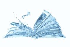 ύδωρ βιβλίων Στοκ εικόνες με δικαίωμα ελεύθερης χρήσης