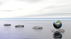 ύδωρ γήινων πετρών Στοκ εικόνες με δικαίωμα ελεύθερης χρήσης