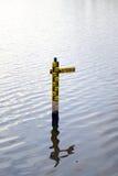 ύδωρ επιπέδων δεικτών Στοκ φωτογραφία με δικαίωμα ελεύθερης χρήσης
