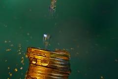 Ύδωρ και χρήματα Στοκ εικόνες με δικαίωμα ελεύθερης χρήσης