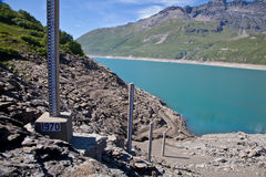 ύδωρ μέτρησης επιπέδων φραγ& Στοκ φωτογραφία με δικαίωμα ελεύθερης χρήσης