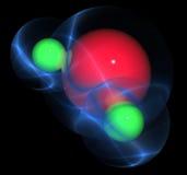 ύδωρ μορίων Διανυσματική απεικόνιση