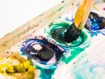 ύδωρ παλετών χρώματος βου& Στοκ Εικόνα