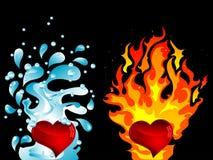 ύδωρ πυρκαγιάς διανυσματική απεικόνιση