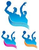 ύδωρ πόλο λογότυπων Στοκ Εικόνες