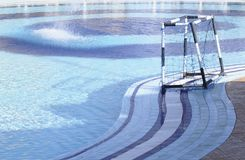 ύδωρ πόλο στόχου Στοκ φωτογραφία με δικαίωμα ελεύθερης χρήσης