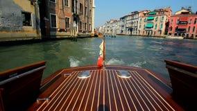 ύδωρ της Βενετίας ταξί της &Io Γύρος βαρκών στη Βενετία φιλμ μικρού μήκους