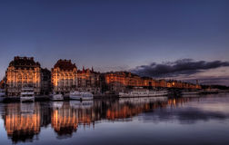 ύδωρ της Στοκχόλμης πόλεω Στοκ φωτογραφίες με δικαίωμα ελεύθερης χρήσης