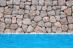 ύδωρ τοίχων πετρών λιμνών Στοκ Φωτογραφία