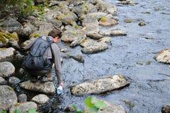 ύδωρ τουριστών ποταμών πλήρ&om Στοκ Φωτογραφίες
