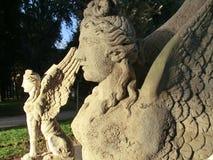 Δύο αγάλματα των sphinxes στη Ρώμη Στοκ Φωτογραφία