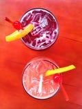 Δύο εύγευστα sangria κοκτέιλ Στοκ Εικόνα