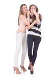 Δύο θηλυκοί φίλοι που απομονώνονται Στοκ Εικόνα