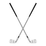 Δύο διασχισμένα γκολφ κλαμπ Στοκ εικόνα με δικαίωμα ελεύθερης χρήσης