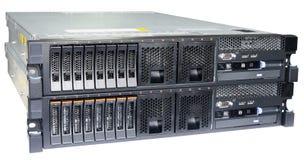 Δύο κεντρικοί υπολογιστές που απομονώνονται Στοκ Εικόνα