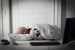 Ύπνοι επιχειρηματιών στην αρχή Στοκ Εικόνα