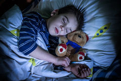 Ύπνοι παιδιών Στοκ φωτογραφία με δικαίωμα ελεύθερης χρήσης