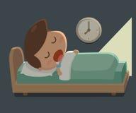 Ύπνος αγοριών στο κρεβάτι Ώρα για ύπνο Στοκ εικόνα με δικαίωμα ελεύθερης χρήσης