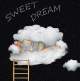 Ύπνος ατόμων σε ένα σύννεφο στοκ φωτογραφία με δικαίωμα ελεύθερης χρήσης