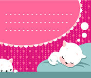 ύπνος γατακιών Στοκ φωτογραφία με δικαίωμα ελεύθερης χρήσης