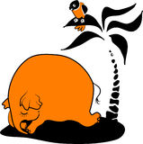 ύπνος ελεφάντων απεικόνιση αποθεμάτων