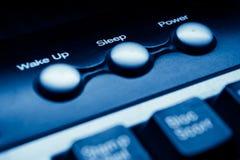 ύπνος ισχύος κουμπιών Στοκ φωτογραφία με δικαίωμα ελεύθερης χρήσης