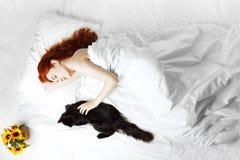 ύπνος κοριτσιών σπορείων Στοκ Εικόνες