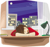 ύπνος κοριτσιών Στοκ εικόνα με δικαίωμα ελεύθερης χρήσης