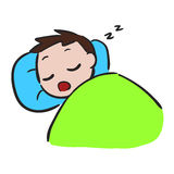 Ύπνος μικρών παιδιών διανυσματική απεικόνιση