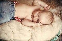 ύπνος μωρών Η άνεση, χαλαρώνει, ηρεμία Στοκ Εικόνα