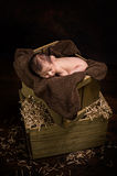 Ύπνος νεογέννητος Στοκ εικόνα με δικαίωμα ελεύθερης χρήσης