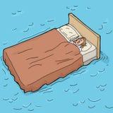 Ύπνος σε ένα Waterbed Στοκ εικόνες με δικαίωμα ελεύθερης χρήσης