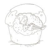Ύπνος στοιχειών στο κέικ απομονωμένο διανυσματικό αντικείμενο Στοκ φωτογραφία με δικαίωμα ελεύθερης χρήσης