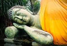 ύπνος του Βούδα Ναός του Βούδα σε Buriram Στοκ φωτογραφία με δικαίωμα ελεύθερης χρήσης