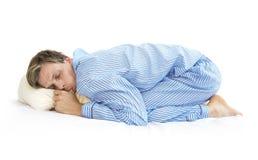 Ύπνος όπως έναν bebay Στοκ φωτογραφίες με δικαίωμα ελεύθερης χρήσης